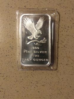 5 0z bar 99.9 % Silver for Sale in Durham,  NC