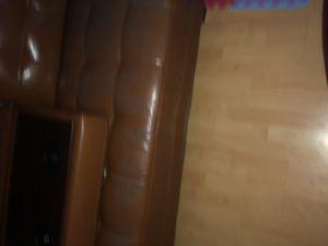 Used leather futon for Sale in Virginia Beach, VA
