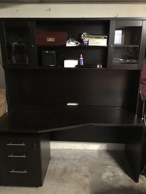 Desk w/Hutch & File Cabinet *PRICE REDUCED* for Sale in Seattle, WA