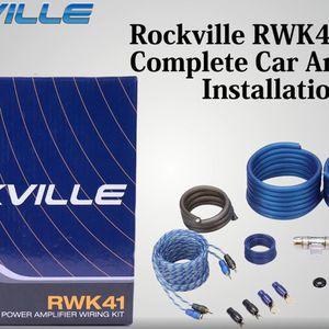 4 Gauge amp Installation kit for Sale in Porterville, CA