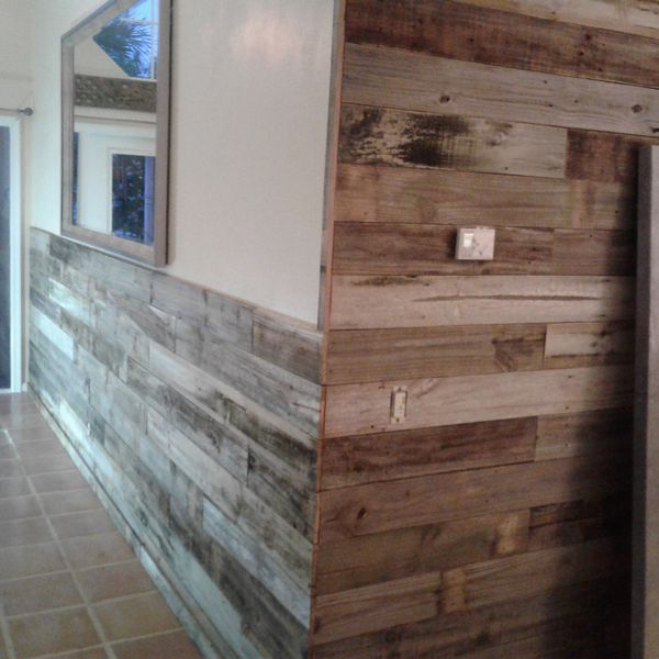 Reclaimed wood Accent walls