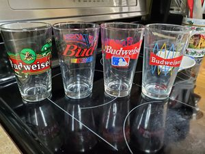 Set of 4 Budweiser collector glasses for Sale in Land O Lakes, FL