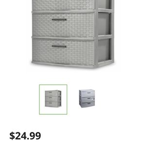 THREE DRAWER STORAGE 3 CEMENT, WEAVE for Sale in Portland, OR