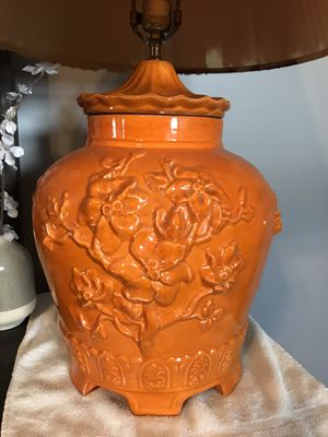 Beautiful orange color lamp for Sale in Oceanside, NY
