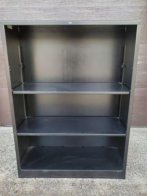 "HON Metal Bookcase - 3-Shelf Bookcase, 34-1/2"" W x 13"" D x 47"" H, Color: Black for Sale in Fullerton, CA"