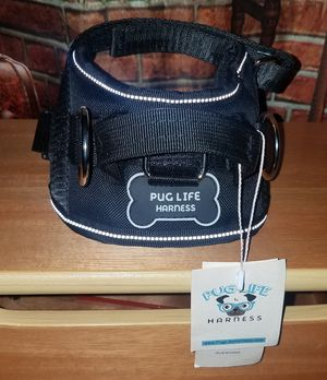 PUG LIFE NEW All-In-One No Pull Dog Harness Black Canine Collar S 5-10 lbs NWT for Sale in Tampa, FL