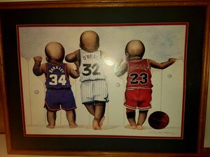 Vintage Kenneth gatewood print of Jordan and O'Neal and barkley as babies for Sale in Cashmere, WA