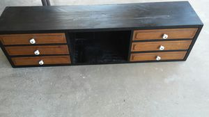 Dresser top, or shelf with drawers wood ,rustic , old, heavy for Sale in Modesto, CA