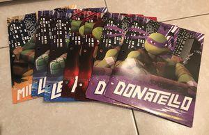7 brand new large Teenage Mutant Ninja Turtles (TMNT) folders for Sale in Davie, FL