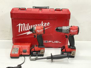 Milwaukee M18 FUEL 18-Volt Lithium-Ion Brushless Cordless Hammer Drill and Impact Driver Combo Kit (2-Tool) with Two 5Ah Batteries for Sale in Bakersfield, CA