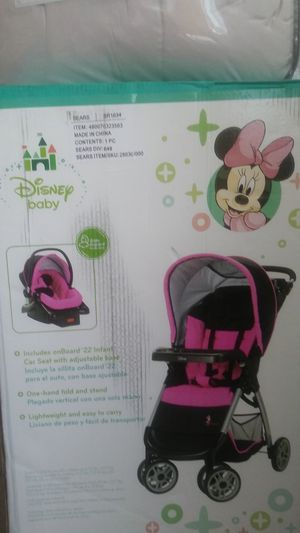 Disney baby stroller n carseat for Sale in Boston, MA