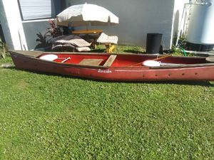 Wooden Lincoln canoe for Sale in Lehigh Acres, FL