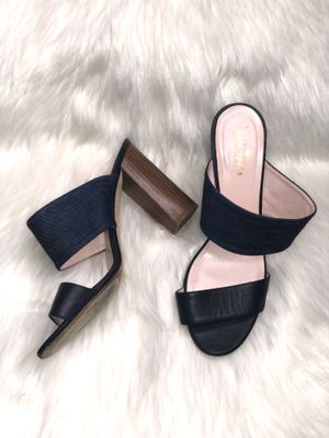 Kate Spade Imma Denim Leather Mules US Size 9.5 B Retail $368 for Sale in San Antonio, TX