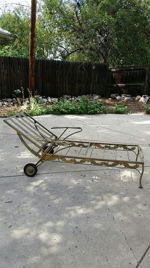 Antique Vintage Metal Lawn Chair Chaise Outdoor furniture for Sale in Denver, CO