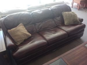 Leather couch for Sale in San Jose, CA