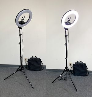 "New $75 each LED 13"" Ring Light Photo Stand Lighting 50W 5500K Dimmable Studio Video Camera for Sale in El Monte, CA"