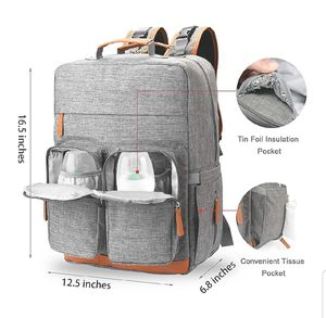 New diaper baby backpack bag..comes with wet/dry bag, changing pad, stroller straps..unisex color for Sale in Reston, VA