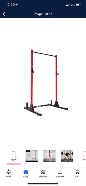 Fuel Pureformance Power Squat Rack, Red weight lifting for Sale in Mesquite, TX