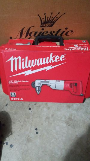 Milwaukee half inch right angle drill kit for Sale in Germantown, MD