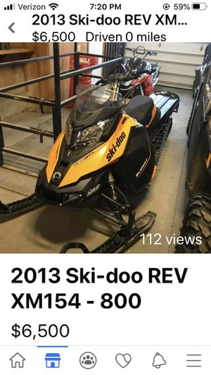 Skidoo snowmobile REV XM154- 800 for Sale in Stevensville, MT