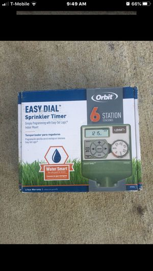 Sprinkler Timer Orbit 6 Station brand New for Sale in Ontario, CA