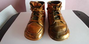 Vintage Metal Dipped Baby Shoes for Sale in Battle Creek, MI
