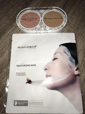 Face sheet mask & blush bronzer kit for Sale in Chula Vista, CA