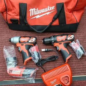 Milwaukee M12 Drill Impact Driver 12v Flashlight Cordless Tool Kit for Sale in Arlington, VA