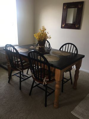 Dining room table and 4 chairs - solid maple for Sale in Tampa, FL