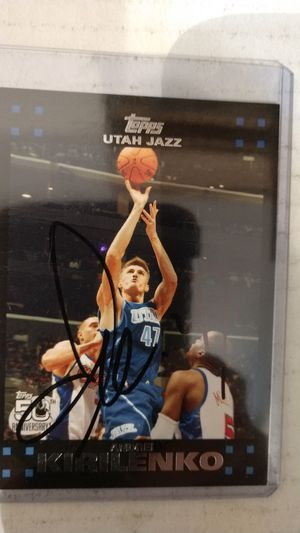 Andrei kirilenko autograph card for Sale in Jacksonville, FL