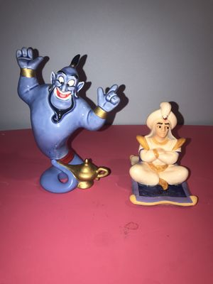 Disney Aladdin and Genie ceramic figurines. for Sale in Mount Prospect, IL