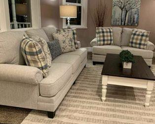 Meggett Linen Living Room Set(LOVESEAT AND SOFA) byAshley for Sale in Greenbelt,  MD