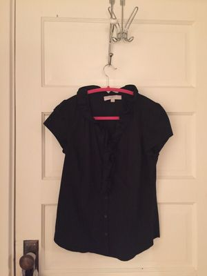 Black ruffled top from Loft for Sale in Nashville, TN