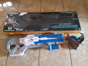 Overwatch Soldier 76 Nerf Rival Gun with mask, batteries included and 30 free bullets for Sale in La Puente, CA