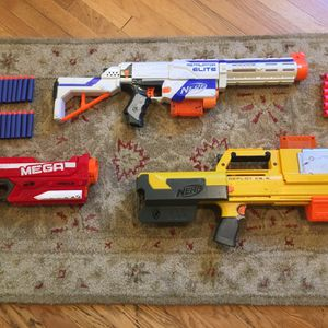 Nerf gun lot with Retaliator, Deploy C-S6, Mega Magnus, and more for Sale in Culver City, CA