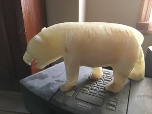White jade bear carving for Sale in Wilmington, DE