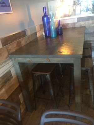 "Beautiful wooden high table Reclaimed wood NEW condition perfect for RESTAURANTS Size 72"" L by 36"" W by 42""h for Sale in Miami, FL"