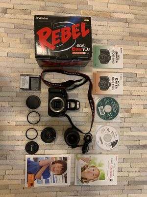 Canon Rebel T3i + 2 Lenses and Accessories for Sale in San Francisco, CA
