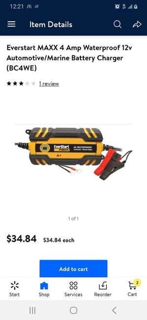Maxx waterproof battery charger / maintainer for Sale in Portland, OR