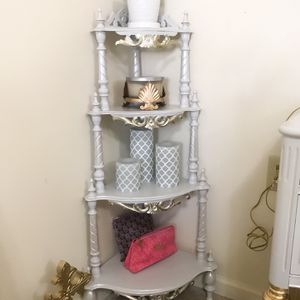 Real Wood Corner Stand /etagere for Sale in Purcellville, VA