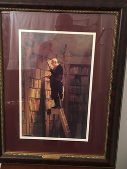 The Bookworm, 1850 by Carl Spitzweg Framed Painting for Sale in Chicago,  IL