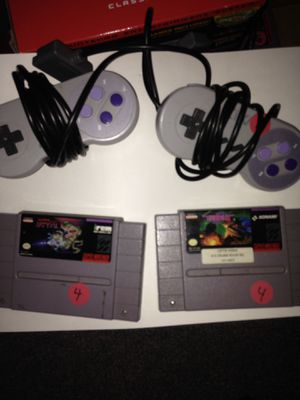 Super Nintendo snes controllers and games lot for Sale in Houston, TX