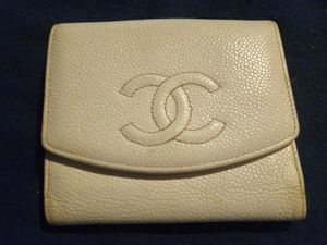 Chanel White Leather Caviar Skin Bifold Wallet for Sale in Coffeyville, KS