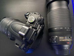 Nikon D5000 12.3 MP DX Digital SLR & Nikon 70-300mm f/4.5-5.6G ED IF AF-S VR for Sale in Brandon, FL