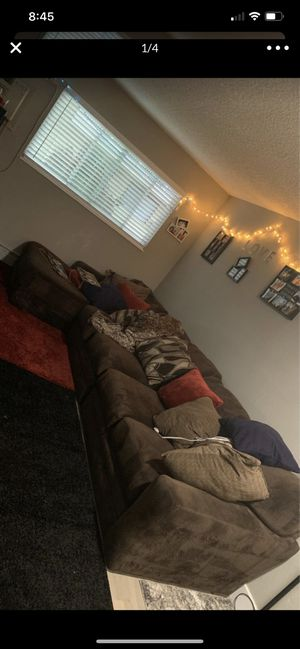 Comfy Sectional Brown Couch for Sale in Thornton, CO