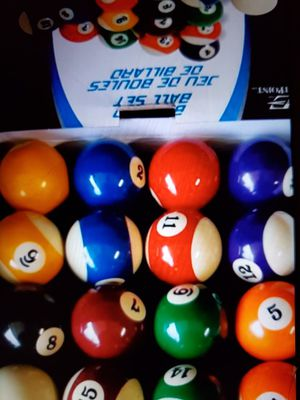 BILLIARD 16 PIECE POOL BALL SET for Sale in Beaumont, CA