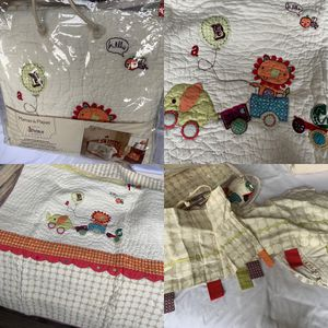Mamas & Papas Limited Edition 4 Piece Crib Bedding W/ Lamp, Diaper Stacker, Rug, Fleece Blanket ETC for Sale in Miami, FL