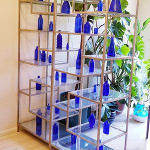 Mid Century Cobalt Glass Bottle Collection for Sale in Glendale, AZ
