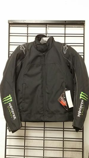 Alpinestars Chase Waterproof Motorcycle Jacket Black/Green Size Small for Sale in Signal Hill, CA