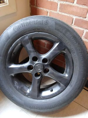 4 16 inch black maxima rims and tires with lug nuts for Sale in Hartford, CT